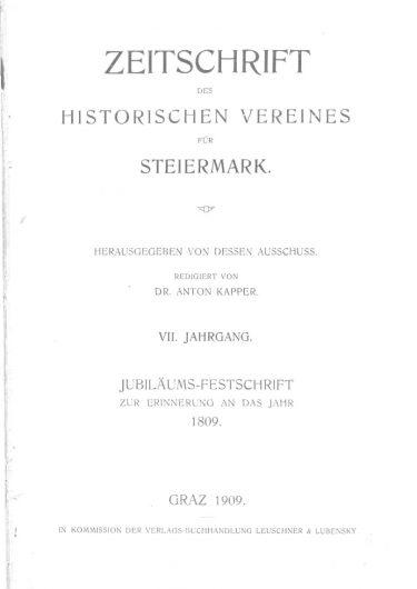 Zeitschrift Jg7 Titelseite 375x530 - Zeitschrift 7 (1909)