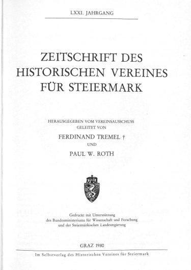 Zeitschrift Jg71 Titelseite 375x530 - Jahrgang 71 (1980)