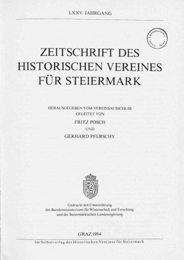 Zeitschrift Jg75 Titelseite 375x530 - Jahrgang 75 (1984)