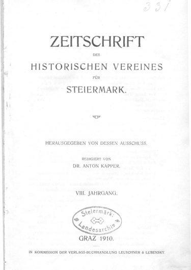 Zeitschrift Jg8 Titelseite 375x530 - Zeitschrift 8 (1910)
