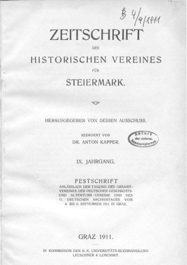 Zeitschrift Jg9 Titelseite 375x530 - Zeitschrift 9 (1911)