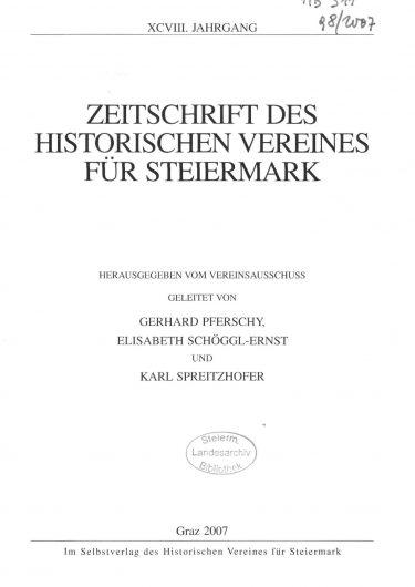 Zeitschrift Jg98 Titelseite 375x530 - Jahrgang 98 (2007)
